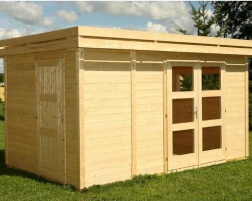 Construction en bois antibes nice cannes ets pavillons for Porte de cabanon en bois
