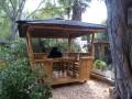 Exposition permanente d'abris de jardin en bois , abris voiture, garages sur plus de 3500 m²