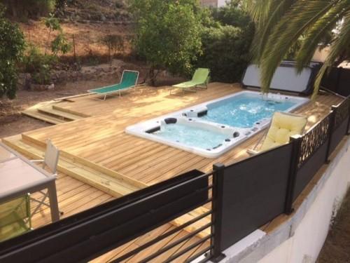Spa De Nage Avec Terrasse Sur Pilotis Nos Construction En Bois